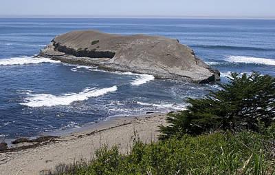 Greyhound Photograph - Greyhound Rock State Beach - Santa Cruz - California by Brendan Reals