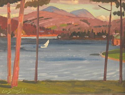 Painting - Greylock And Pontoosuc Lake by Len Stomski