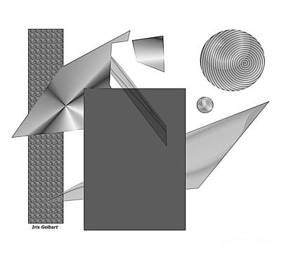 Digital Art - Greyscale by Iris Gelbart