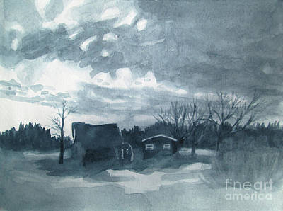 Painting - Greyscale Landscape 1 by Kathy Braud