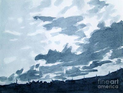 Painting - Greyscale Landscape 4 by Kathy Braud