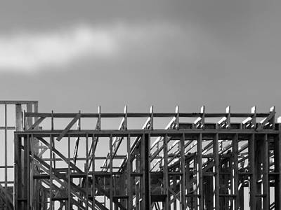 Photograph - Greyscale Palm Springs Construction by Stan  Magnan