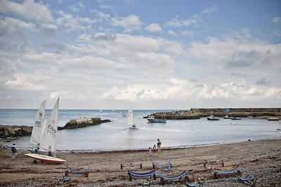 Greystones Harbour With Yachts Art Print by Gary Rowe