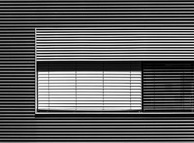 Abstract Pattern Photograph - Greytone Horizontals by Stefan Krebs