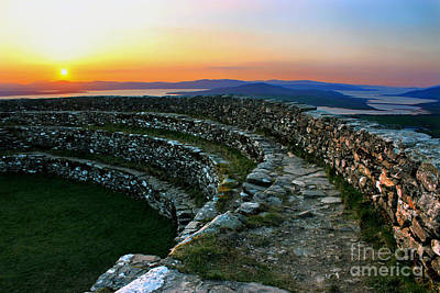 Photograph - Grianan Fort At Dusk by Nina Ficur Feenan