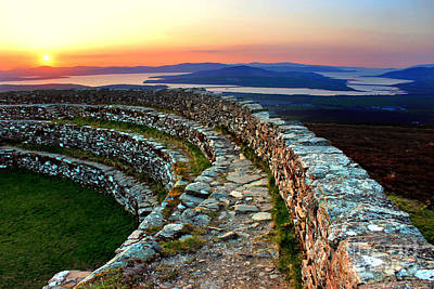 Grianan Fort Sunset Art Print