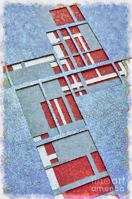 Grid Photograph - Grid Abstract by Edward Fielding