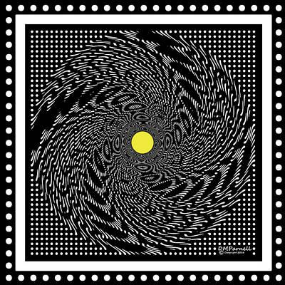 Circular Saw Digital Art - Grid Buzz Saw by Diane Parnell