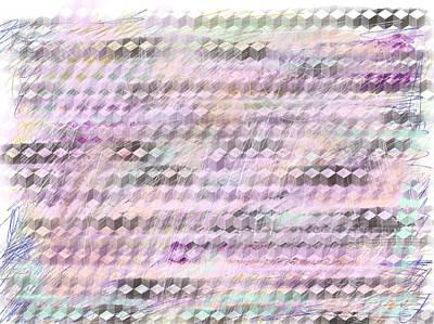Digital Art - Grid Color by Barbara Jacobs