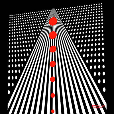 Dots And Lines Digital Art - Grid Confused Perspectives by Diane Parnell