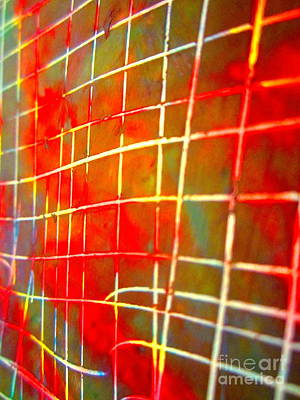 Tron Photograph - Grid Graffiti by Laura Star