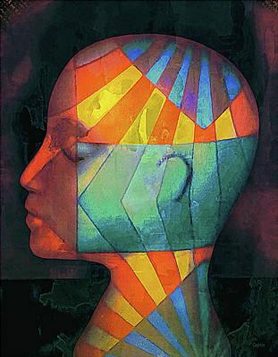 Grid Head 2 Art Print