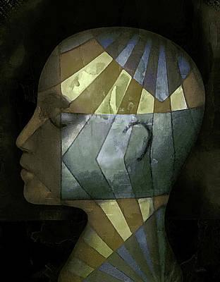 Grid Head Art Print