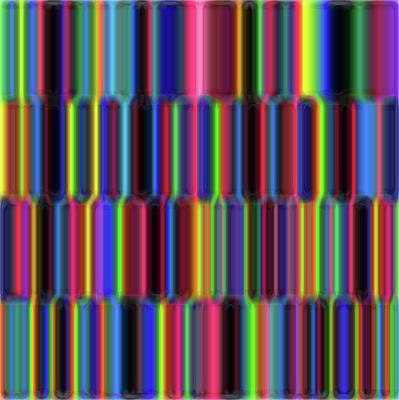 Digital Art - Grid -hub- by Coded Images