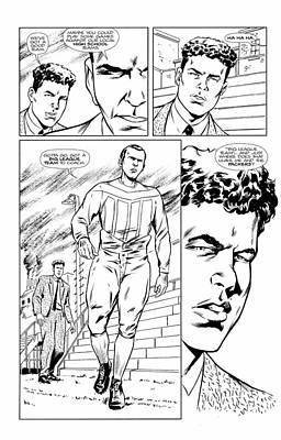 Hall Of Fame Coach Drawing - Gridiron # 1 Page 23 Black And White Collectors Edition by Greg Le Duc Ron Randall