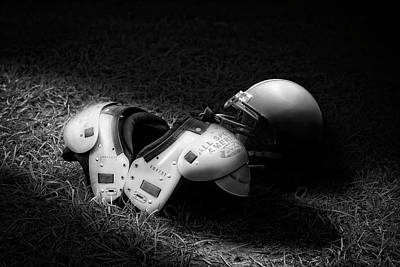 Uniforms Photograph - Gridiron Gear by Tom Mc Nemar