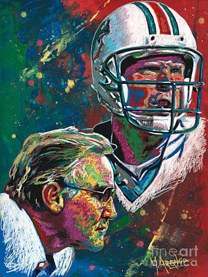 Painting - Gridiron Legends by Maria Arango