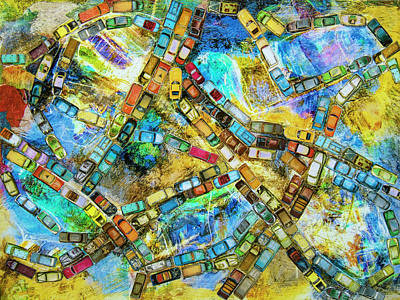 Mixed Media - Gridlock by Dominic Piperata