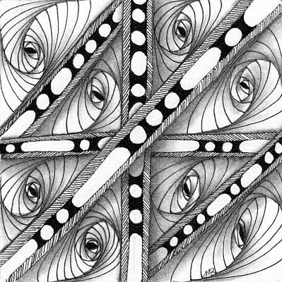 Drawing - Gridlock by Jan Steinle