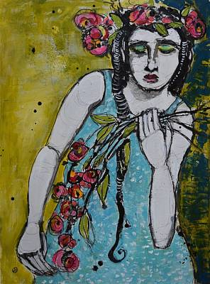 Portrait Mixed Media Painting - Grief by Jane Spakowsky