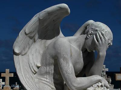 Grieving Angel Art Print by Carlos Reyes