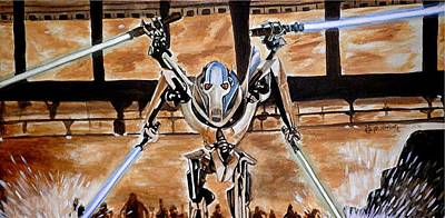 General Grievous Painting - Grievous Coming At Ya by Al  Molina