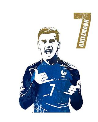 Sergio Ramos Wall Art - Painting - Griezmann #france by Art Popop