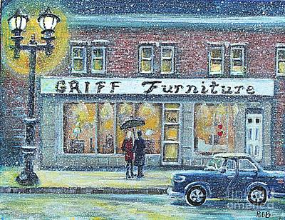 Waltham Painting - Griff Furniture by Rita Brown