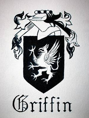 Painting - Griffin Family Crest by Stacy C Bottoms