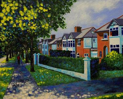 Griffith Avenue Dublin  Art Print by John  Nolan