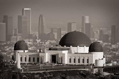 Los Angeles Skyline Photograph - Griffith Observatory by Adam Romanowicz