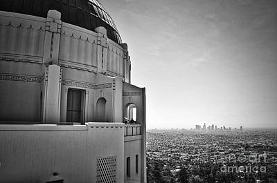 Griffith Observatory And Downtown Los Angeles Art Print by Kirt Tisdale