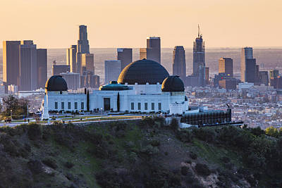 Griffith Observatory And La Sunrise Art Print by John McGraw