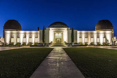 Griffith Observatory At Blue Hour Art Print by John McGraw
