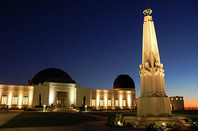 Photograph - griffith Observatory at night by James Kirkikis
