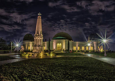 Photograph - Griffith Observatory At Night by Robert Hebert