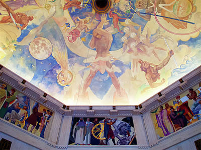 Photograph - Griffith Observatory Ceiling Art by Ram Vasudev