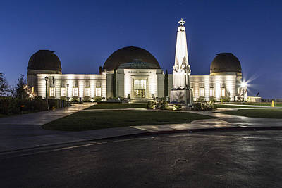 Griffith Observatory In La Art Print by John McGraw