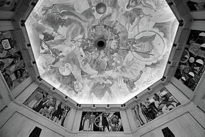 Photograph - Griffith Observatory Rotunda Art - Black And White Rendition by Ram Vasudev