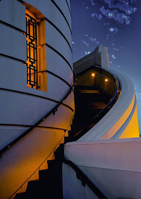 Griffith Observatory Side Entrance Art Print