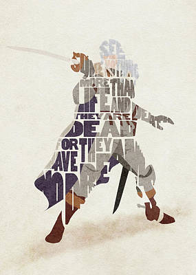 Digital Art - Griffith Typography Art by Inspirowl Design
