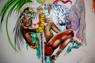 Griffon Mixed Media - Griffon Girl by Kaz Collins