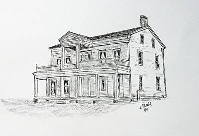 Drawing - Grignon Home by Jack G Brauer