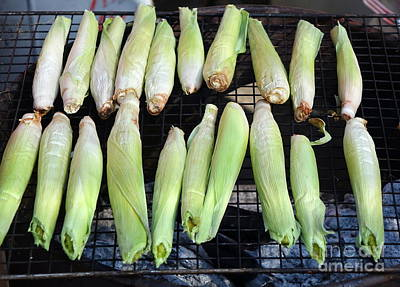 Photograph - Grilled Baby Corn by Yali Shi