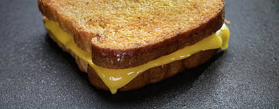Still Life Royalty-Free and Rights-Managed Images - Grilled Cheese Panorama by Steve Gadomski