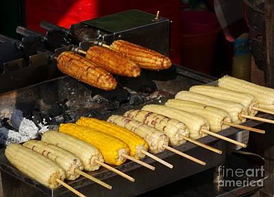 Photograph - Grilled Corn On The Cob by Yali Shi