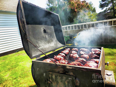 Grilled Pork On The Grill 4 Art Print