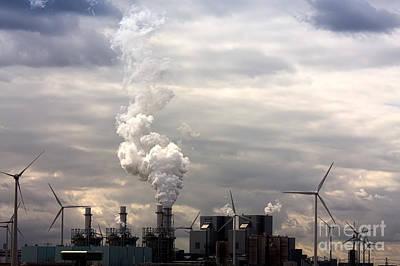 Windmill Photograph - Grim Energy Landscape by Jan Brons