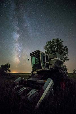 Gleaners Photograph - Grim Gleaner  by Aaron J Groen