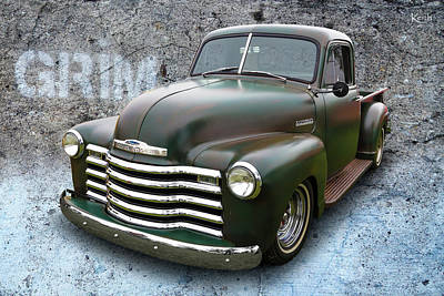 Chev Pickup Photograph - Grim by Keith Hawley